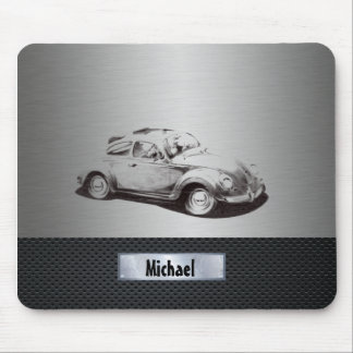 Classy Old car silvery Mouse Pad