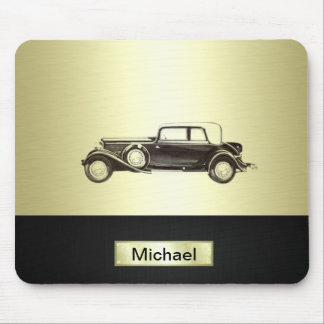 Classy old car trendy gold mouse pad