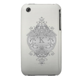 Classy, Ornate Diamonds Monogram Case-Mate iPhone 3 Case