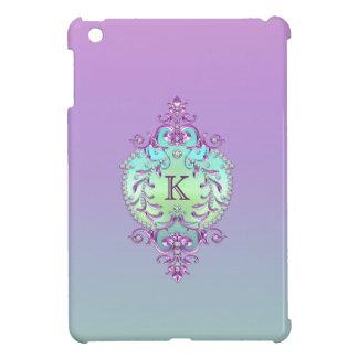 Classy, Ornate Diamonds Monogram iPad Mini Cover