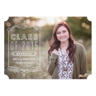 Classy Overlay in Blush | Graduation Invitation