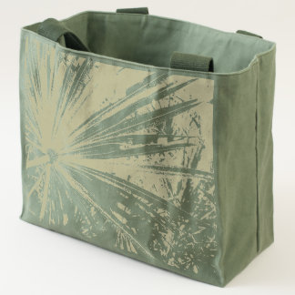 Classy Palm Frond Pattern Canvas Tote