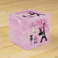 Classy Paris Fashion Eiffel Tower Favor Box