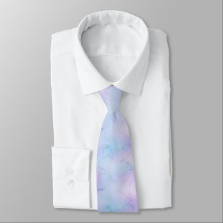 Classy Pastel Marble Pattern Pink Blue Lavender Neck Tie