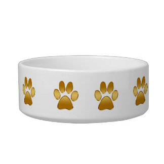 Classy Paw Prints Small Dog Bowl