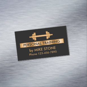 Personal trainer business cards zazzle classy personal trainer business card magnet colourmoves