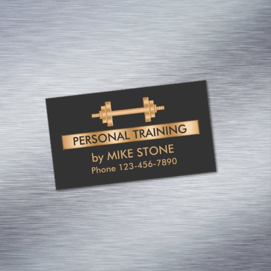 Classy Personal Trainer Business Card Magnet Zazzle