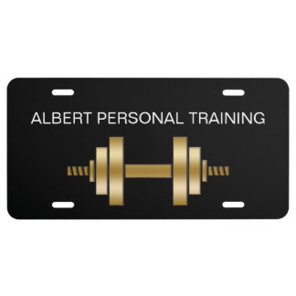 Classy Personal Trainer License Plate