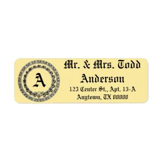 Classy Personalized Monogram Label