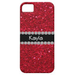 CLASSY PERSONALIZED RED BLING  IPHONE  5 Case iPhone 5 Covers