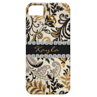 CLASSY PERSONLIZED PAISLEY  BLING  I phone 5 CASE