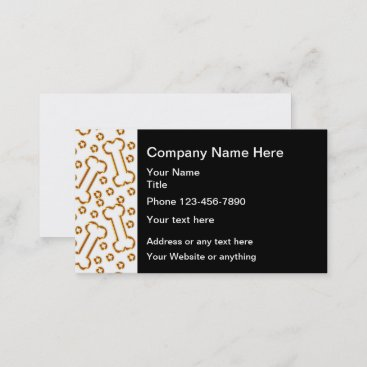 Classy Pet Care Theme Business Cards