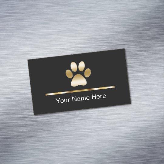 Classy pet service business card magnet zazzle classy pet service business card magnet colourmoves