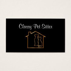 Classy Pet Service Business Cards at Zazzle