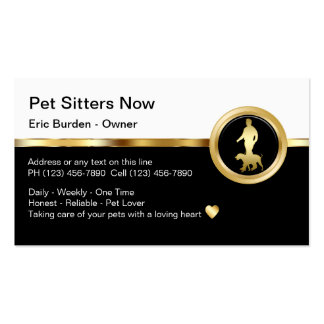 Classy Pet Sitter Business Cards