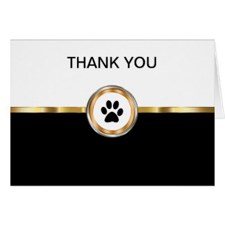 Classy Pet Theme Business Thank You Card