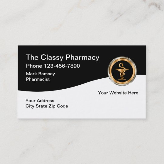 Classy pharmacy design business card zazzle classy pharmacy design business card colourmoves