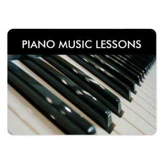 Classy Piano Lessons Large Business Card