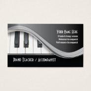 Classy Piano Teacher Business Card at Zazzle
