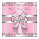 Classy Pink and Silver Invite