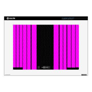Classy Pink Black Flowing Banners Laptop Skin