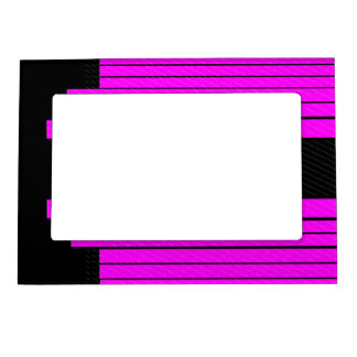Classy Pink Black Flowing Banners Magnetic Frame