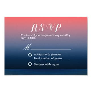 Classy Pink & Blue Twilight Wedding RSVP Custom Announcement