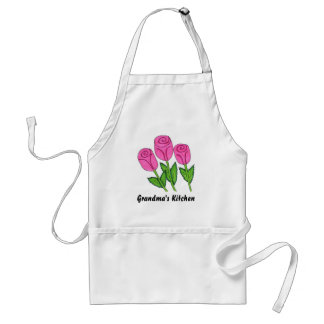 Classy Pink  Rose Design Adult Apron