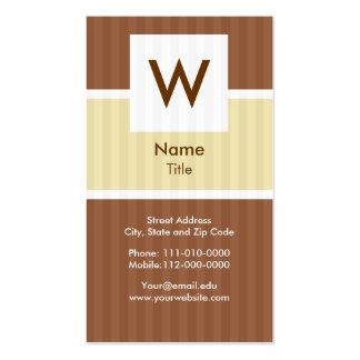 Classy Pinstripe - Monogram Business Card