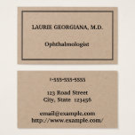 Classy & Plain Ophthalmologist Business Card