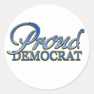 Classy Proud Democrat Round Sticker