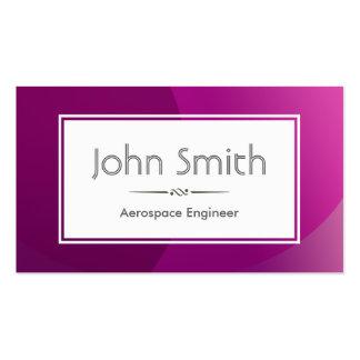 Classy Purple Aerospace Engineer Business Card