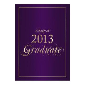 Classy Purple and Gold 2013 Graduate Invitation