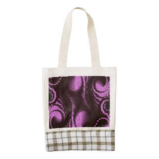 Classy Purple Black Abstract Zazzle HEART Tote Bag