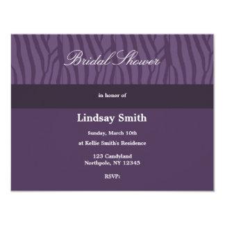 """Classy Purple Bridal Shower Invitation 4.25"""" X 5.5"""" Invitation Card"""