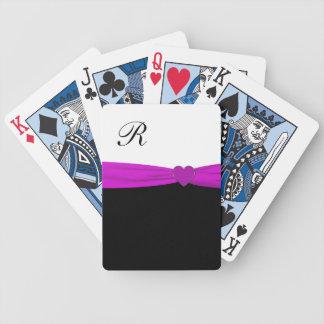 Classy Purple Monogram Playing Cards