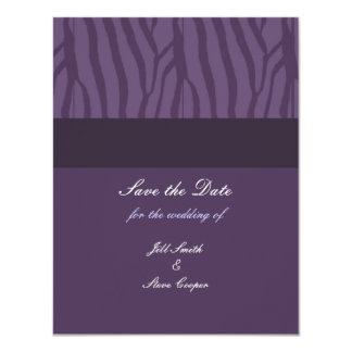 "Classy Purple Save the Date 4.25"" X 5.5"" Invitation Card"