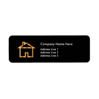 Classy Real Estate Agent Simple Layout Label