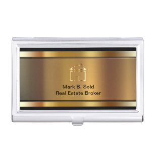 Realty business card holders cases zazzle classy real estate business card holder colourmoves