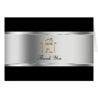 Classy Real Estate Thank You Cards