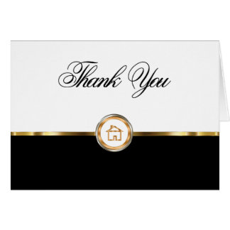 Classy Real Estate Thank You Notecards Card