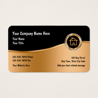 Classy Real Estate Theme Business Card