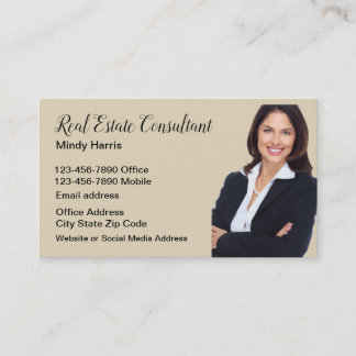 Classy Realtor Photo Template Business Card