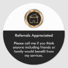 Classy Realtor Referral Appreciation Classic Round Sticker