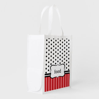 Classy, Red, and Customizable Market Tote