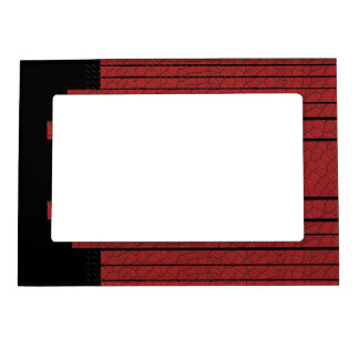 Classy Red Black Flowing Banner Magnetic Picture Frame