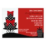 """Classy Red & Black Invitation 5"""" X 7"""" Invitation Card"""