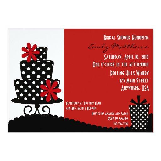 Classy Red & Black Invitation