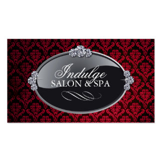 Classy Red Damask Appointment Cards