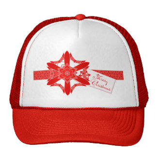 Classy Red Lace Christmas Trucker Hat
